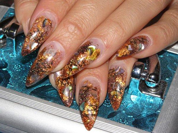 Нарощенные ногти с аквариум